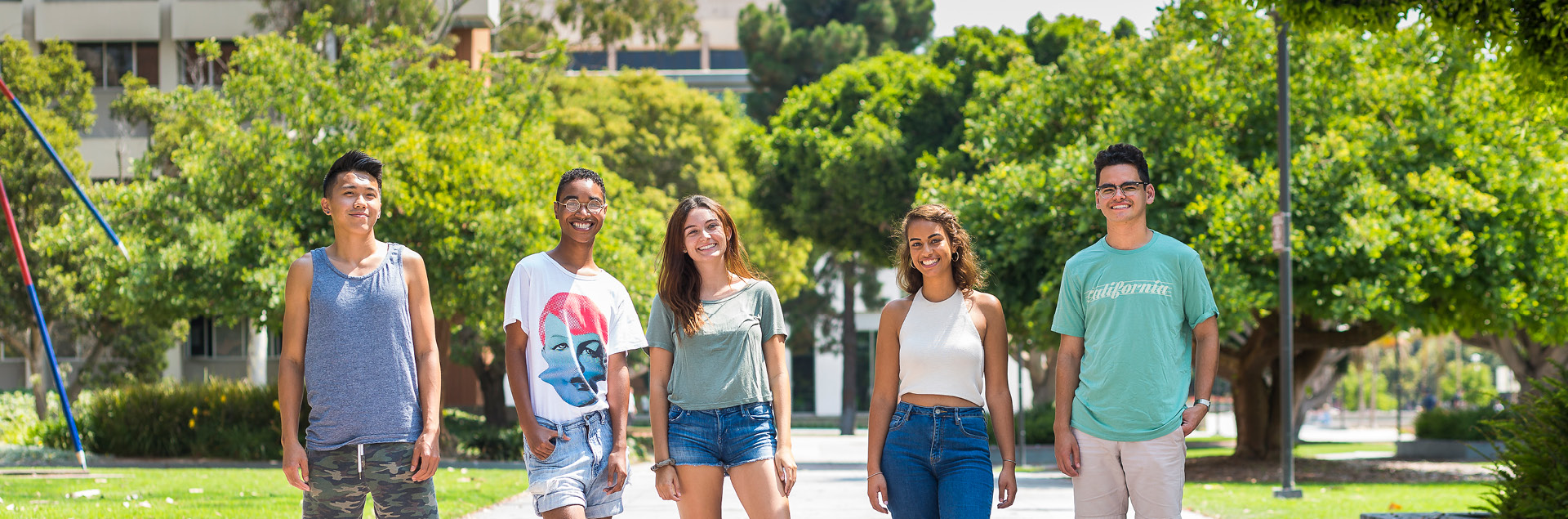 Happy Students on UCSB campus