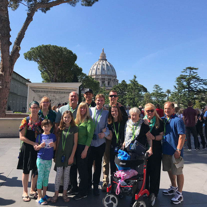 Burke Family at the Vatican