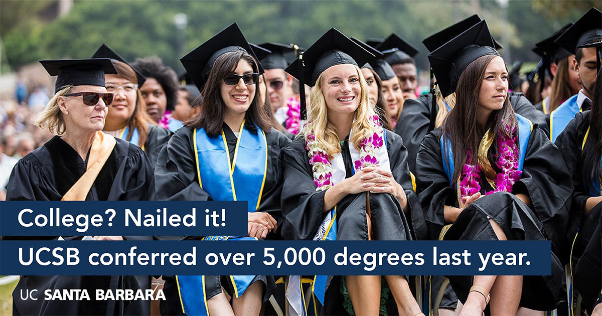 UCSB conferred over 5000 degrees last year.