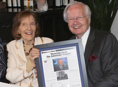 Lillian Lovelace and Bill Moyers